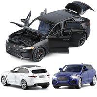 132 جاكوار f-pace سيارة سبيكة الرياضة سيارة نموذج دييكاست الصوت ضوء سوبر سباق suv جمع اللعب للأطفال هدية عيد