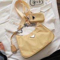 2021 الفاخرة أزياء العلامة التجارية 5A محفظة، عالية الجودة النايلون المحمولة تجول رسول حقيبة الكتف للسيدات الأكثر مبيعا غرفة واحدة حزمة صورة بالجملة # 4