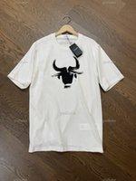티셔츠 19SS 유럽 및 미국 패션 성격 큰 인쇄 코튼 청소년 캐주얼 짧은 소매