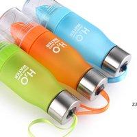22 oz plastik limon su şişesi H20 plastik meyve infüzyon şişe demlik içecek açık spor suyu limon taşınabilir bisiklet seyahat HWD7427