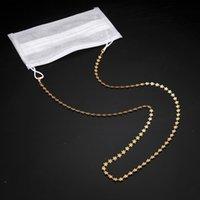 Yutong Teamer Color de oro Cadena de metal para gafas Mujeres Mascarilla Collar de cadena Flower Heart Charm Correas para gafas de sol Cuerda de cordones