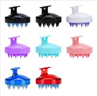 Daily Household Beautiful And Practical Soft Silicone Shampoo Brush Cleaning Scalp Head Massage Food Grade Bath Comb Hair Tools