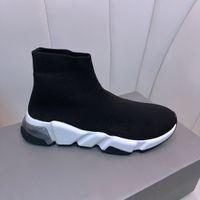 Nouvelles chaussures en tricot de haut en haut, chaussettes de marque de marque pour hommes et femmes, mode extérieure confortable et résistant à la saleté, shoess occasionnel, chaussures de sport de la vitesse