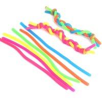 Fidget Abreact DiscomPresione Cuerda Pegamento flexible Ropas TPR Hyperflex Strengty String String Neon Slings Toys DIY Rainbow Pulsera 19cm H22202
