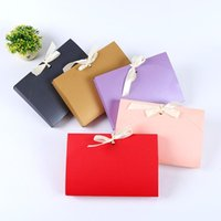 Colorful Envelopes Gift Box For Silk Scarf Clothes Packaging Paper Bags Wedding Party Favor Bag 26x17.5x3.5cm Wrap