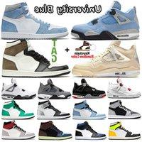 Descuento Sail University Blue 1S Nike Air Jordan Retro 4S Botas para hombre Zapatos Hyper Royal Shadow 2.0 Silver Toe Twist 1 Mujeres Deportes Deportes Sneakers