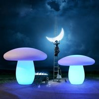 LED luminous mushroom landscape decoration courtyard lawn lamp creative modeling outdoor waterproof amusement toy