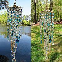 Aurora Crystal Wind Chimes Family Home Decor Decoration Garden Decor Outdoor