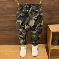 Trousers 2021 Autumn Winter Children Outdoor Camo Kids Pants Boys Casual Clothing Sport W276