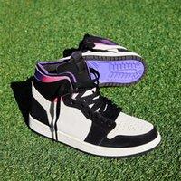 air jordan 1 zoom comfort مع مربع 1 حذاء كرة السلة Zoom Comfort حذاء رياضي رجالي Jumpman 1s University Blue Hyper Royal أزياء الرجال في الهواء الطلق الرياضة المدربين 7-12
