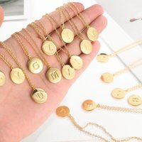 Pendant Necklaces YAONUAN Fashion Jewelry For Women 26 Letters Charms Gold Plated Link Initial Letter Name Necklace Trendy Accessories