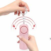 130dB Seguro Som Pessoal Alarme Keychain Luz do LED Brilhante Self_Defense Alerta de Emergência Anel chave para as mulheres crianças DHE5870