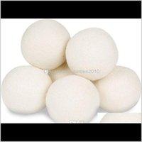منتجات أخرى 7 سنتيمتر الصوف النسيج الطبيعي المنقي 100 العضوية قابلة لإعادة الاستخدام الكرة كرات مجفف الكرة للثابت يقلل من وقت التجفيف kodjf viguu