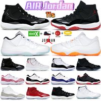 11 Hommes 11s Chaussures de basket-ball New Concord 45 Espace couleur Platinum Jam Jam Gym Red Gagner Comme 96 XI Designer Sneakers Hommes