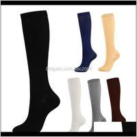 Compression Running Sports Socks Men Women 30 Mmhg Knee High Anti Swelling Fatigue For Cycling Football Varicose Veins Zyi9Z Pjvo4