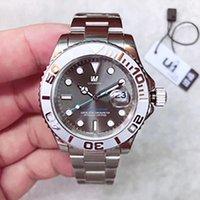 Мужские часы 40 мм сапфировый циферблат из нержавеющей стали 316 ремешок из нержавеющей стали с автоматическим механическим механизмом 116622 мужские яхтенные часы оригинальный складной бак