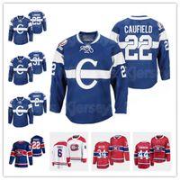 Montreal Canadiens 100th Inniversary الاحتفال الأزرق إرتداد جيرسي نيك سوزوكي كول كوف فيلفيلد غي لافليو شيا ويبر كاري السعر جوناثان دروان الفانيلة