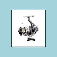Spinning Bobines de pêche Sports à l'extérieur100% Original Ultegra Spinng Bobine 1000 2500 C3000 4000 Ratio bas 5,0: 1 / 4.8: 1 Hagane Gear Drop