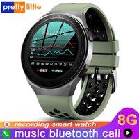 Designer Watch Brand Orologi orologi di lusso Uomo Bluetooth Chiamata completo Touch Screen impermeabile Smart Recording Funzione Sport Braccialetto