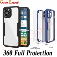 360 Degree Protection Phone Cases for iPhone 12 11 Pro Max XR XS 8 7 Plus With Built In Screen Protector