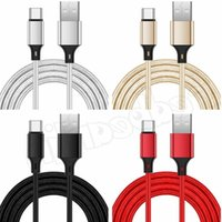 1m 2m 3m Fabric Nylon phone cables Type c Micro USb Cable Cord line For Samsung S10 S20 S21 Huawei P30 P40 htc