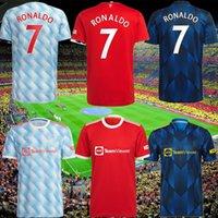 21 22 Ronaldo Sancho Shaw Shaw Manchester Soccer Jerseys United Fans Player Version homme Bruno Fernandes Varane Martial Utd Rashford Chemise de football 2022 Hommes + Kit Kit Ensemble