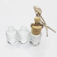 Yüksek Şeffaf 6 ml Araba Kolye Parfüm Şişesi Uçucu Yağlar Difüzörler Silindir Şişeleri Cam Aroma Parfümün Boş Konteyner DIY Matkap Ev Parfümleri