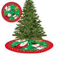 Christmas Decorations Decoration Tree Skirt Santa Snowman Deer Ornaments Home Xmas Festive Floor Supplies Carpet Party Cover Year D Z1r8
