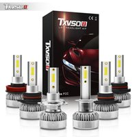 TXVSO8 G1 Car LED Headlight Bulbs H1 H4 H7 H8 H9 H11 9005 9006 9012 8000Lumens High Beam 6000K Super Bright White 1:1 Halogen Size 2PCS