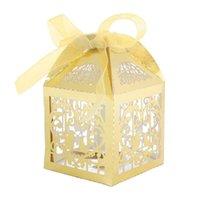 Envoltura de regalo 50 PCS Fiesta de lujo Favor de boda Super Cut Pearl Papel Cinta Cajas de caramelo Caja Estilo de aves clásico
