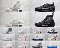Dior shoes 2021 Designer Técnico B22 B23 Sapatos Casuais Ao Ar Livre 19SS Obliques Bottom Respirável Mulheres Plataforma de Couro Flores Formadores Esporte