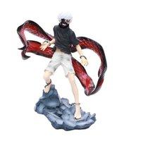 Anime Tokyo Ghoul 22cm Kaneki Ken a réveillé Ver. Figure PVC Figure Modèle de collection Brinquedos jouet cadeau de Noël Q0621