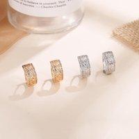 Diverse classici orecchini cavità orecchini cubic zirconia oro argento colore coreano per le donne gioielli moda regali