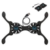 Gaming Laptop Recher Six Fan LED Screen USB Port Cooling Pad notebook Stand per pastiglie