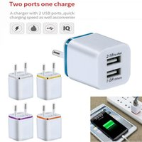 Metal Dual USB wall Charging Charger US EU Plug 2.1A AC Power Adapter Wall Charger Plug 2 port for Iphone Samsung Note LG Tablet Ipad