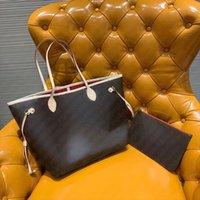 Top Quality Bolsas Classic Neverfuii Saco de Compras com Código Data Lona Monograma Letras Imprimir Toda Casual Mulheres Compostos Luxurys Designers Bags Bolsas