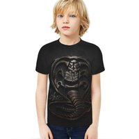 Cobra Kai Kids T-Shirt Print Girls Funny Clothes Boys Costume Children 2021 Summer Tops Game Baby Tshirts Women's