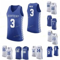NCAA Koleji Kentucky Wildcats Basketbol Forması 3 Hamidou Diallo 3 Tyrese Maxey 32 Wenyen Gabriel 33 Ben 4 Nick Richards Özel Dikişli