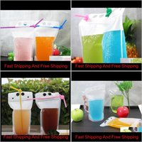 Storage Bags 250Ml500Ml750Ml1000Ml Plastic Frosted Drink Packaging Bag Clear Pouch For Beverage Juice Milk Coffee Sn119 Bupd5 Ysgle