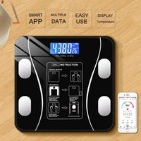 Body Fat Scaleweight Scale, Bluetooth Wireless Digital Electronic Scale With Smart Phone Application, Tempered Glass LCD Display Scales