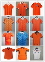 1988 Hollands Retro Soccer Jerseys Van Basten 12 Gullit 10 Koeman 4 Cruyff 14 Tailândia Uniformes Futebol Jersey Camisa 87/88 Camiseta Futbol Camisas de tamanho S-XXL