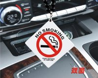 Pendentif auto acrylique Signe de mode sans tabagisme Boire de la survitesse Collier suspendu Arrière arrière Rétroviseur Ornement intérieur Cylisme