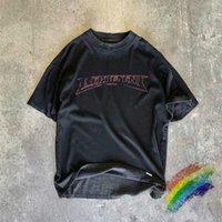 Vintage camiseta hombres mujeres 1 camiseta de alta calidad de la impresión lavada Streetwear de gran tamaño de la calle de la calle de gran tamaño