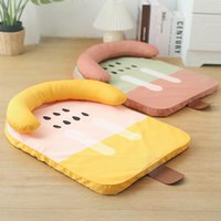 Kennels & Pens Indoor Pet Supplies Cute Ice Cream Shape Dog Bed With Pillow Summer Cool Sleep Cat Sofa Soft Waterproof Puppy Banana