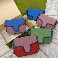 패션 대각선 어깨 가방 디자이너 더블 문자 트렌드 패턴 체인 가방 여성의 기질 핸드백 고품질 WF2104261
