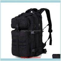 Sacs Sports Sports Soldes35L 3p Tactique Assault Pack Sac à dos Molle imperméable Bug Out Sac petit sac à dos pour randonnée en plein air Camping Hunting1