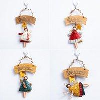 Christmas Decorations Gifts Retro Metal Handcraft Xmas Tree Embellishment Hanging Pendants Cartoon Angel Drop Ornaments