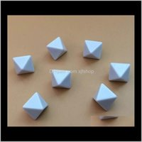 Gambing D8 Blank 8-Fight Dice White Diy Dices Eductional Game Toy Funny Pripts Polyhedral Boson Хорошая цена Высокое Качество B24 650VX FTWOP