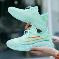 European and American style high-end women's shoes fly woven sports leisure breathable soft comfortable lightweight women's running shoes 52808#