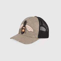 Klasik Üst En Kaliteli Yılan Kaplan Arı Kedi Tuval Sizlü Erkekler Beyzbol Şapkası Kutusu Ile Toz Çanta Moda Kadınlar Güneş Şapka Kova Şapka 426887 08